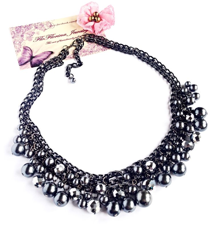 Statement necklace handmade by FloFlorina Jewelry ( https://www.facebook.com/floflorina.jewelry )