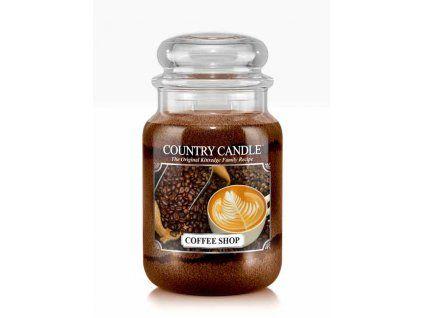 COUNTRY CANDLE Coffee Shop vonná sviečka veľká 2-knôtová (652 g)