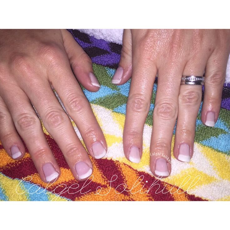 French manicure Calgel Solihull