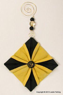 Alltäglicher Künstler: Fabric Origami – Die schönsten Ornamente auf dem Baum!   – Sewing