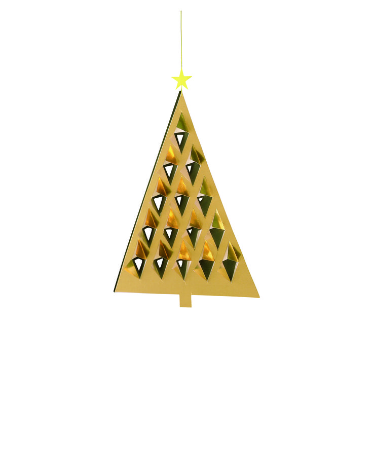 Prism Tree (gold/green) by Flensted Mobiles
