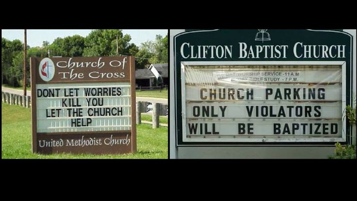 Funny Church Signs that will go to Hell #funny #church #signs #funnychurch #funnysigns #churchsigns