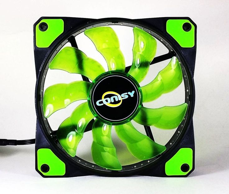 CONISY Hight Airflow Cooling Case Fan 120mm Green LED Quiet for Computer  #CONISY