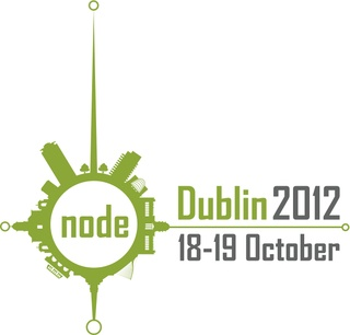The logo for tech conference Node Dublin 2012 incorporates architectural landmarks of the great city. How many can you spot?