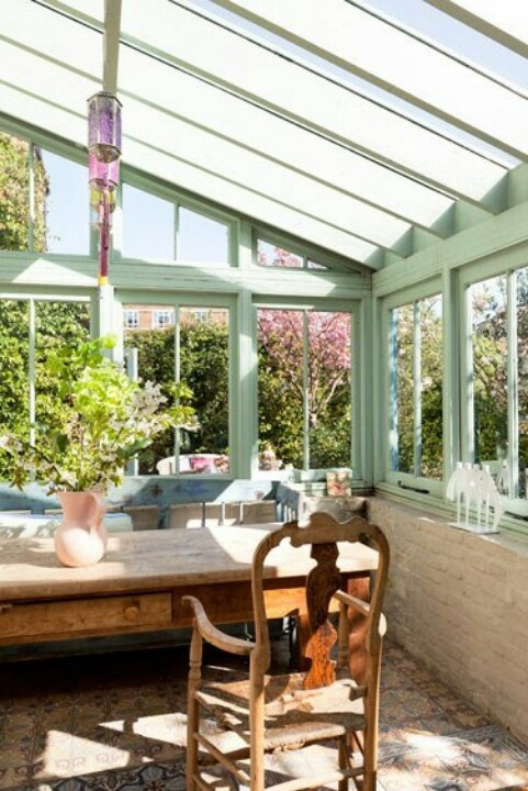 Sun room- eggshell blue