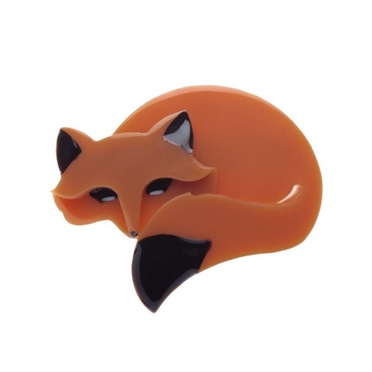 Saffron the Sleeping Fox Brown by Erstwilder
