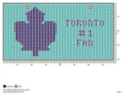 NHL TORONTO MAPLE LEAFS LICENSE PLATE by JODY -- WALL HANGING