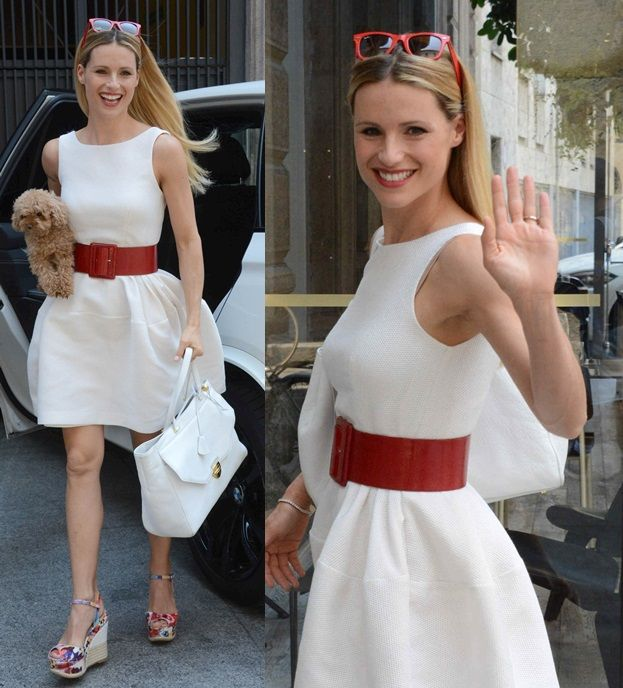 How to Dress Down Party Frocks with Shoes Like Michelle Hunziker