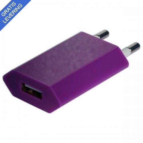 iPhone – iPad USB vægoplader - Lilla