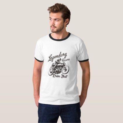 Retro Motorcycle T-Shirt - retro clothing outfits vintage style custom
