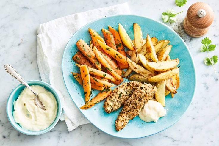 In dit gerecht zijn niet alleen de aardappelen knapperig, maar ook de kip! - recept - Allerhande