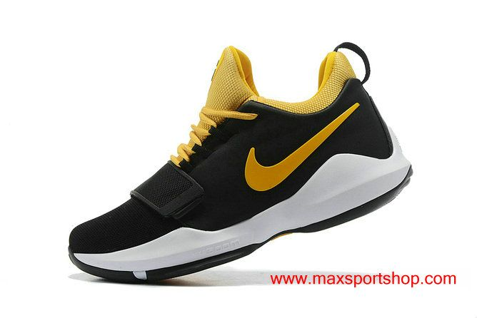 huge selection of ccdcc afa4c Nike PG 1 TS Prototype EP Black Yellow Basketball Shoes For Men   Nike PG  Paul George s Basketball Shoes in 2019   Pinterest   Nike, Basketball Shoes  and ...