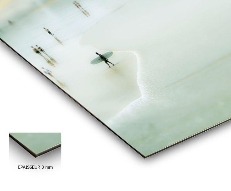 """""""Scène de Plage""""  Playa La Zurriola San Sebastián, Basque Country  printed on aluminium 3mm"""