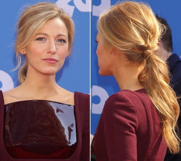 Blake Lively ponytail hairstyle | Wavy Ponytail | Boho Ponytail | Soft Waves | Low Ponytail