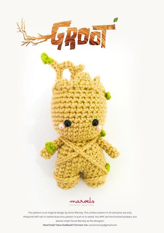 Making Baby Groot - Crochet Tutorial // duchessofcrafting - YouTube | 806x570