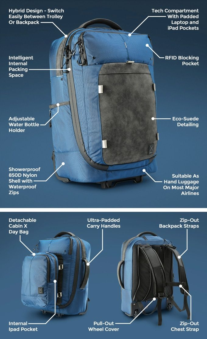 4f495d76e105 Cabin X ONE - Hybrid Carry-On Trolley Backpack and Day Bag by Cabin X —  Kickstarter