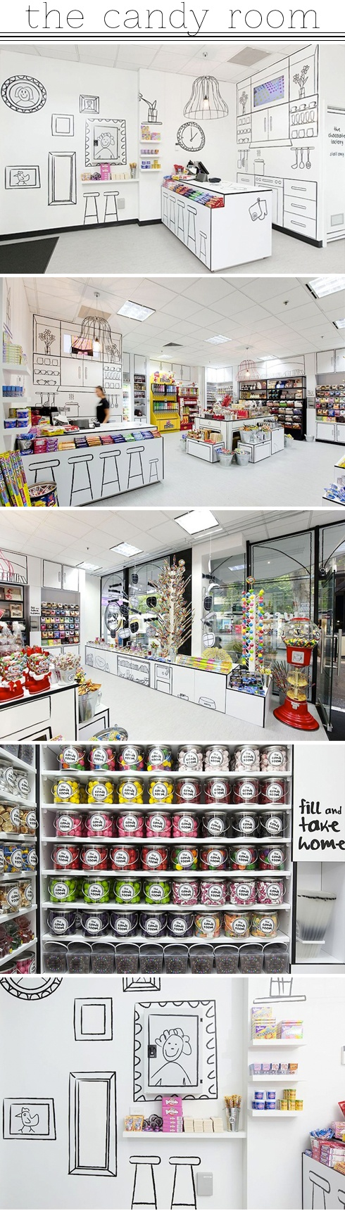 The Candy Room, por Red Design Group