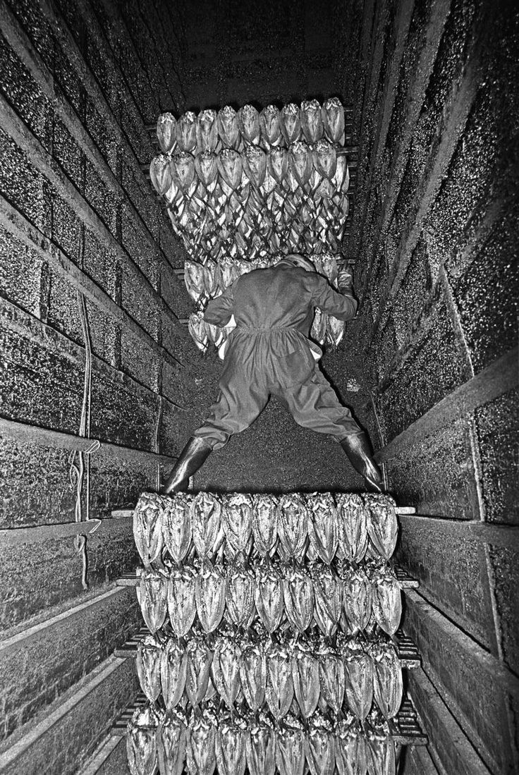 Inside the chimney at Marshall's, North Shields, 1980, by Nick Hedges