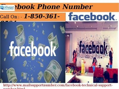 Facebook Phone Number 1-850-361-8504 vs. other customer care number Aren't you able to login your Facebook account? Is there any error you encounter while login your account? Don't worry! Our experienced techies are available 24 hours to help you out in any condition. So, ring a bell on Facebook phone number 1-850-361-8504 and follow our techies, it is ensured that you can easily access your Facebook account in no time. For more information…