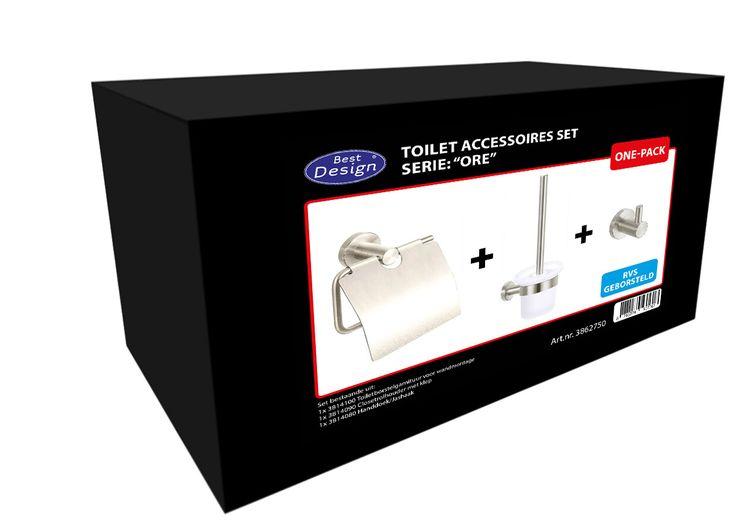 """Best-Design One-Pack Toilettenaccessoires-Set """"Ore"""""""
