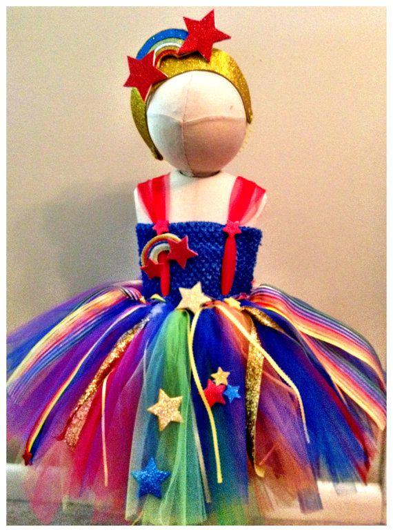 RainbowBrite TutuDress Costume by luluBellebySarah on Etsy, $65.00