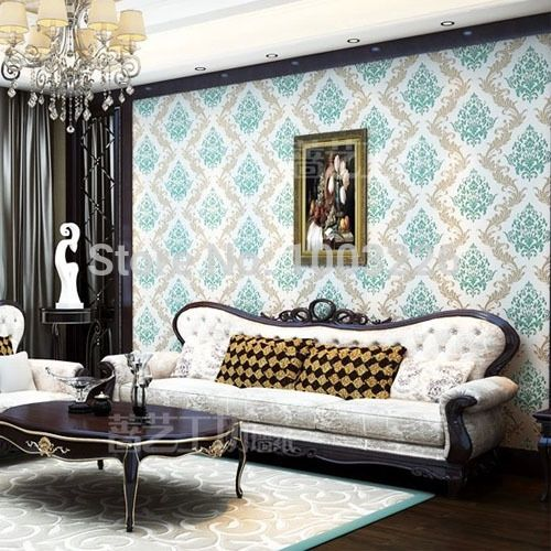 37.12$  Buy here - http://aid3m.worlditems.win/all/product.php?id=32291515020 - DAMASK Flower Wallpaper roll Foam 3D wallpaper for Living Room Bedroom Home Decoration Floral 3D Wall Paper papel de parede Roll