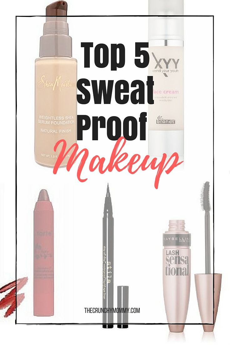 I wear makeup when I workout but only the sweat-proof kind. Here are my 5 favorite pieces to get my sweat on w/while not having to sacrifice looking good. http://www.thecrunchymommy.com/sweat-proof-makeup/