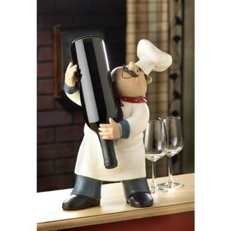 Fat Italian/French Kitchen Fat Chef Wine Bottle Holder Stand Home Kitchen  Accent