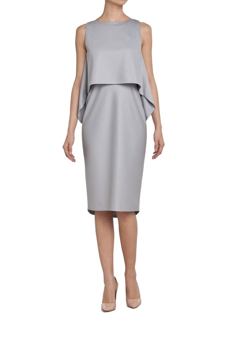 SILVER STONE dress with bolero/ shimmering grey | Nah-nu