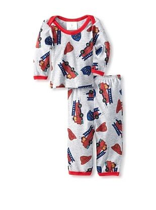 79% OFF Mad Boy Baby Lap Tee & Pant Set (Big Red Fire Trucks)