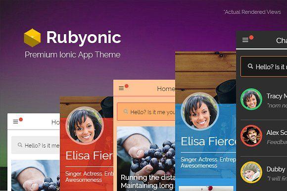 Rubyonic - Ionic Premium app theme by Audacitus on @creativemarket