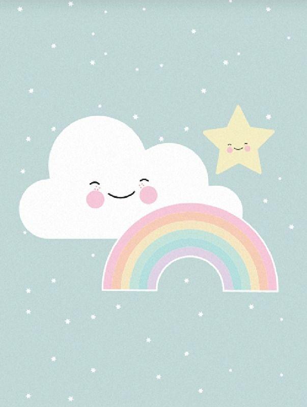 Baby Pink Iphone Wallpaper Eef Lillemor A3 Poster Rainbow Rainbow Illustrations