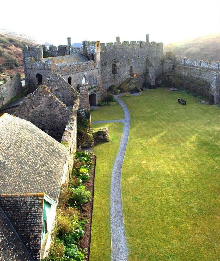 12th Century Manorbier Castle in Pembrokeshire gives visitors an impressive taste of life in medieval Wales