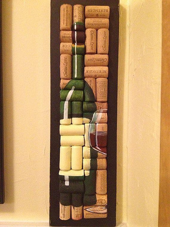 Картина на винных пробках
