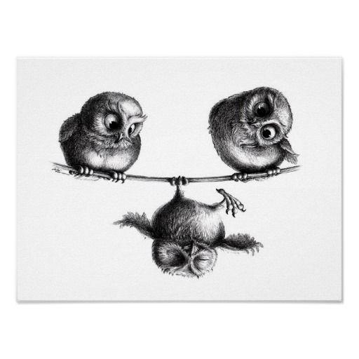Stefan Kahlhammer - Three Owls - Tightrope mill #art