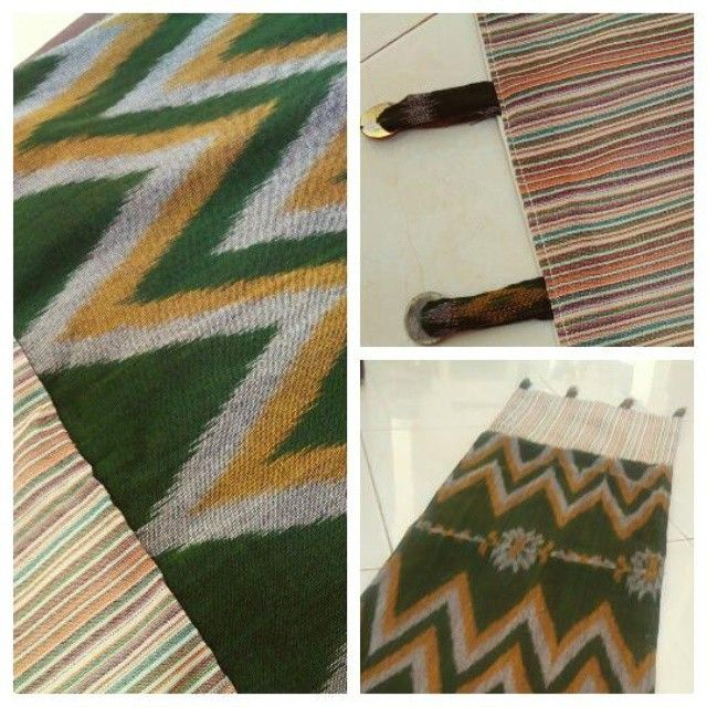 Table runner, Godong Ijo, from ikat and lurik, embelished… by @ekyhandayani - Square Pics