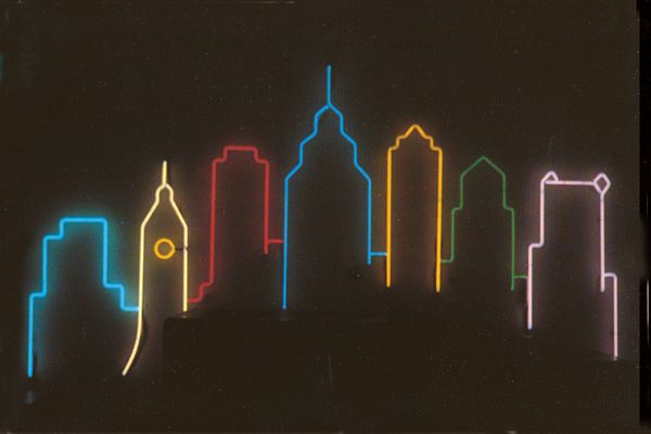 Philly's skyline lights up with neon and a slew of temporary and permanent light displays including the Neon Museum - check it out! (Credit: Philadelphia Neon Museum)