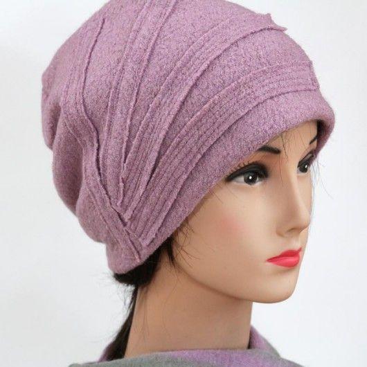 czapka -pudrowy pink