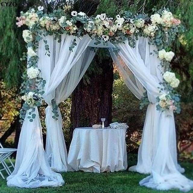 Online Shop Sky Elina 0 72 10m Organza Tulle Rolls Diy Artificial Flower Wedding Decoration Bi Wedding Ceremony Decorations Wedding Decorations Outdoor Wedding