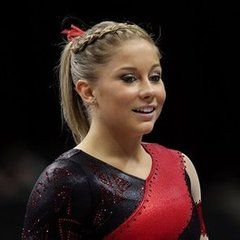 Shawn Johnson-i met her a couple years ago, shes my hero, but unfortunately she retired from gymnastics sunday