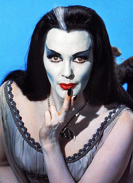 What Katie Healy Did: Lily Munster Halloween Make Up