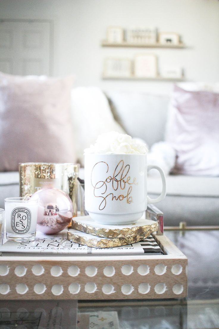 Holiday Home Decor | Blush and Gold Home Decor | Neutral Home Decor | Neutral Holiday Decor