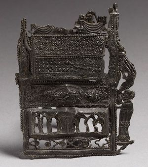 Pilgrim's Badge depicting the shrine of St Thomas Becket at Canterbury Cathedral, ca. 1400  English  Pewter.  One of the best visual records of England's premier shrine.  The shrine itself was sadly destroyed in 1538 by the commissioners of Henry VIII.
