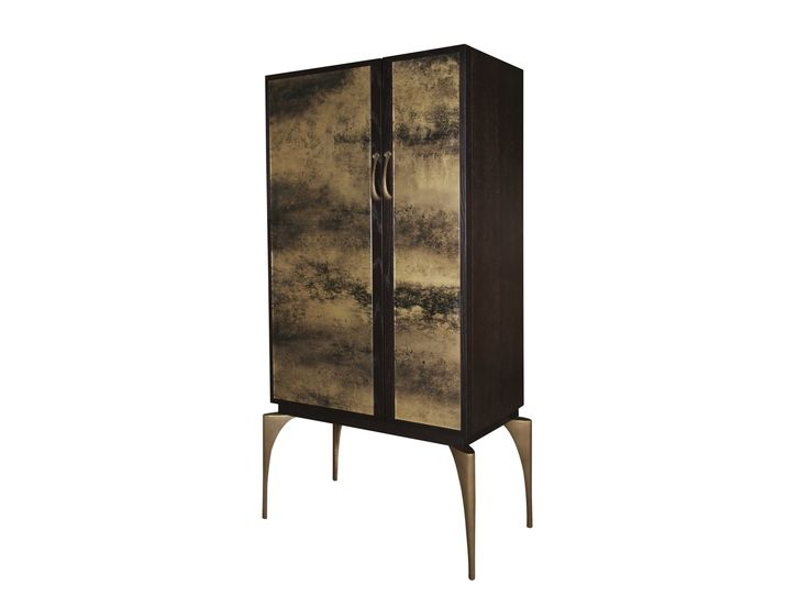 MANOLO HIGH CABINET With choice of door inserts from fabric to leather to gilded class- Hamilton conte.
