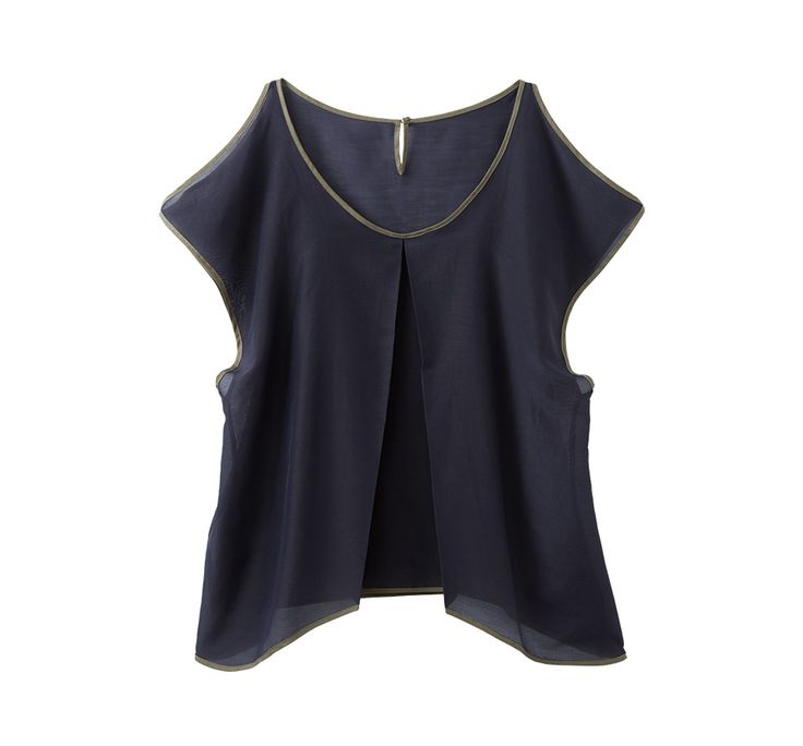 Silk-cotton Ray Blouse シルクコットン レイブラウス【パープルxカーキ】 https://hibi.co.jp/products/detail.php?product_id=101