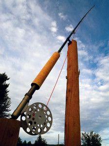 Giant fly fishing rod in Houston, B.C.