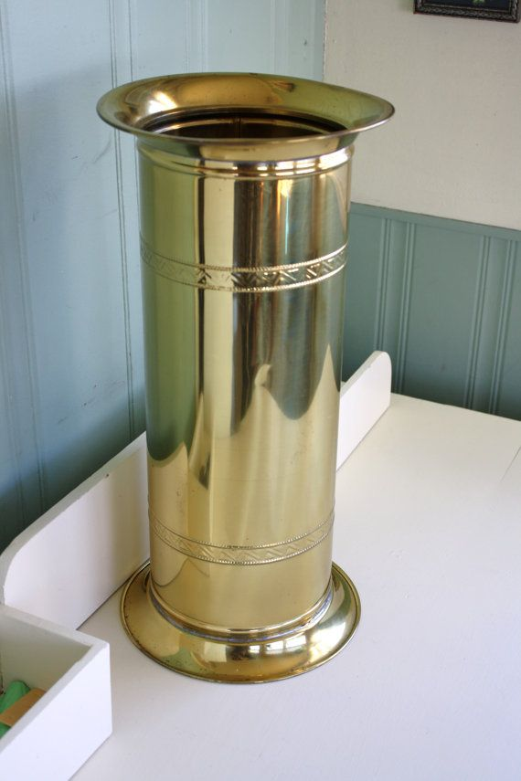 Hey, I found this really awesome Etsy listing at https://www.etsy.com/listing/269149330/brass-umbrella-stand-art-deco-column