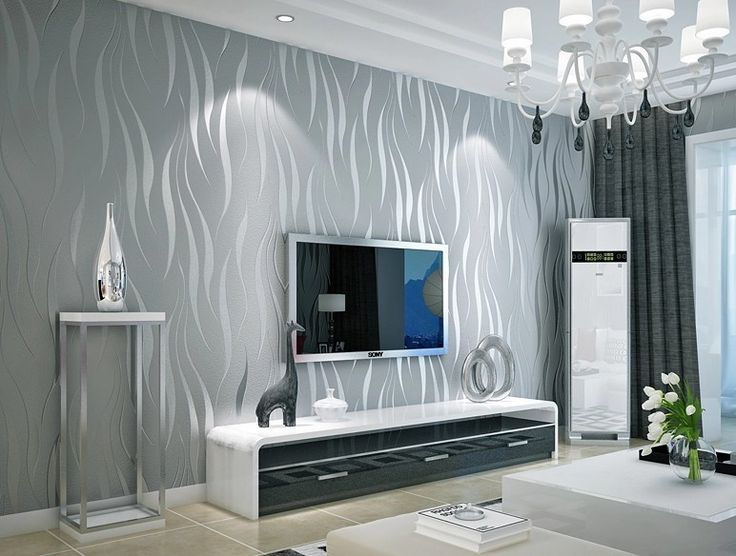 Black and Silver 3D Modern Stripes Art Wallpaper Roll DZK47 Living Room Wave Wall Paper papel de parede para quarto -in Wallpapers from Home & Garden on Aliexpress.com | Alibaba Group