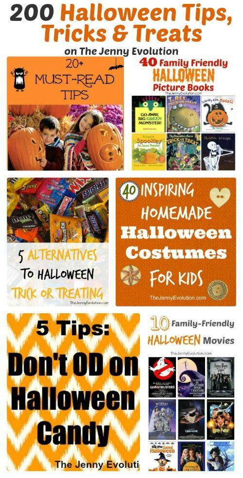 200+ Halloween Tips, Tricks and Treats on The Jenny Evolution  #halloween