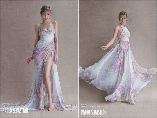 Paolo Sebastian Sirens of the Sea beach wedding or bridesmaid dress for a destination wedding